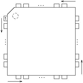 case outline drawing of A3904ECW