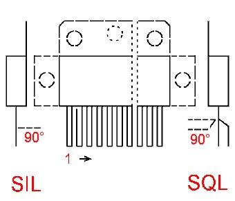 case outline drawing of FAN7071